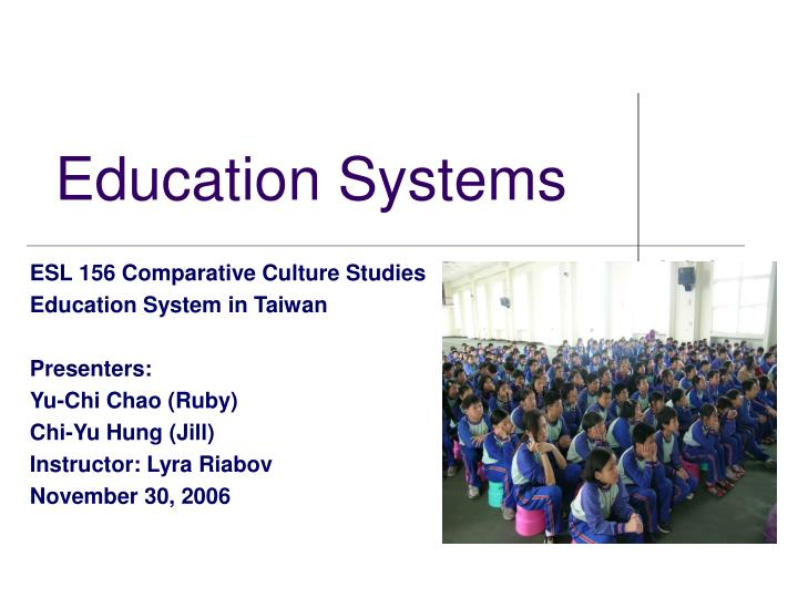 education systems n.