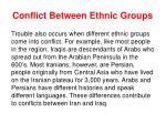 conflict between ethnic groups