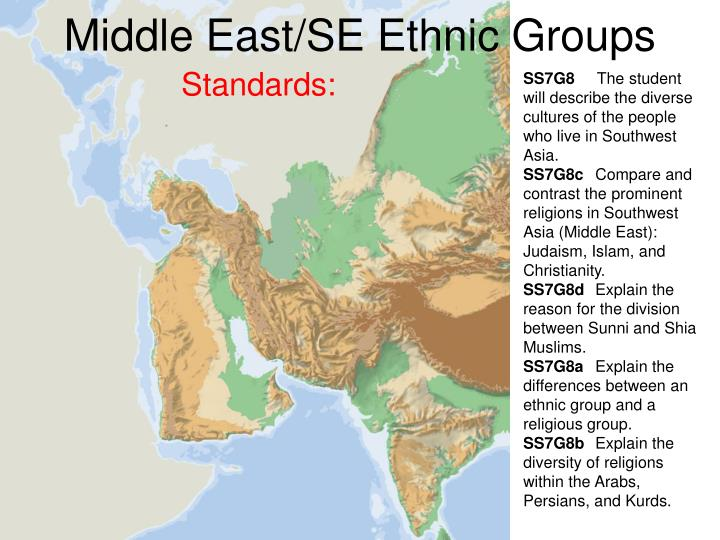 middle east se ethnic groups n.