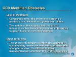 gc3 identified obstacles1