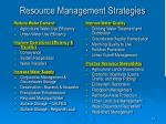 resource management strategies