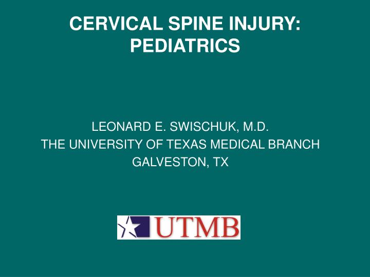 cervical spine injury pediatrics n.