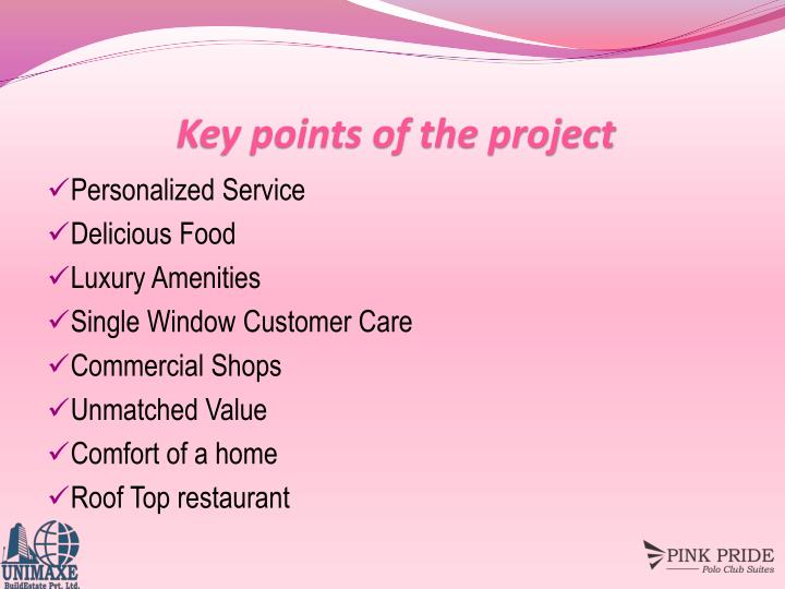 Key points of the project