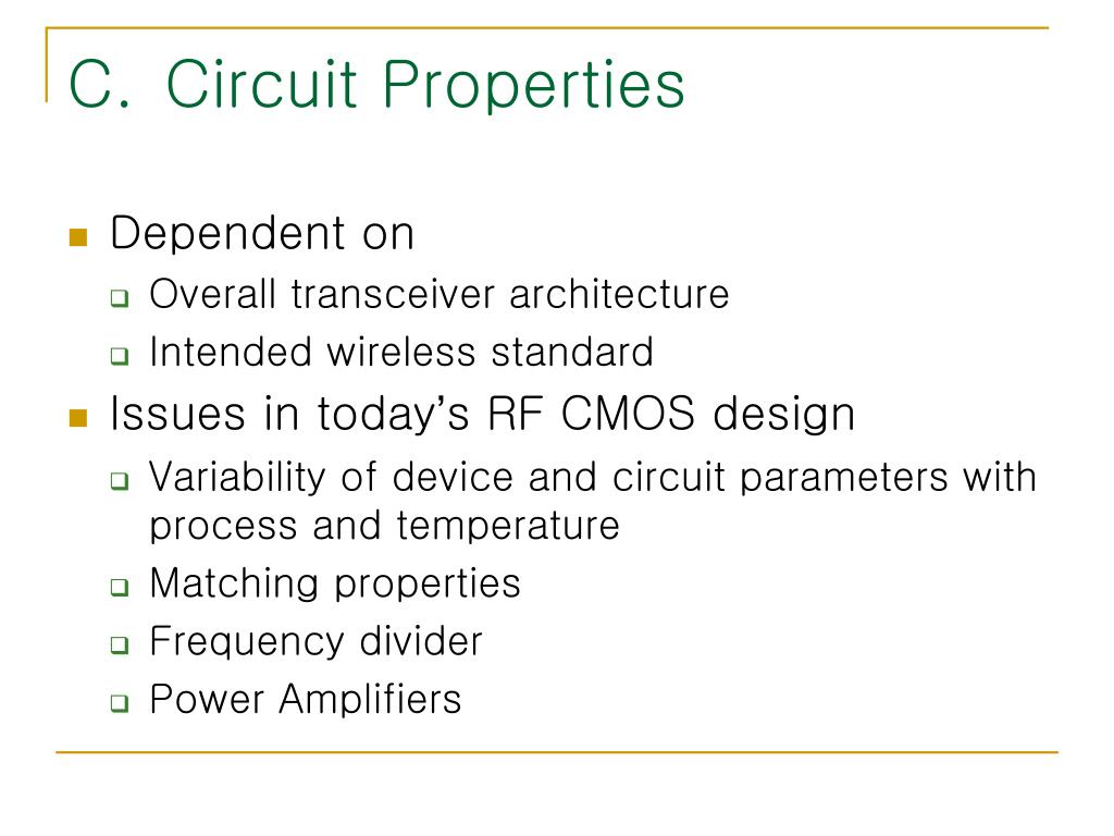 PPT - CMOS Technology Characterization for Analog and RF Design