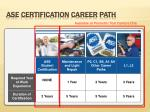 ase certification career path