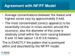 agreement with nf ff model