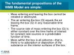 the fundamental propositions of the wmb model are simple