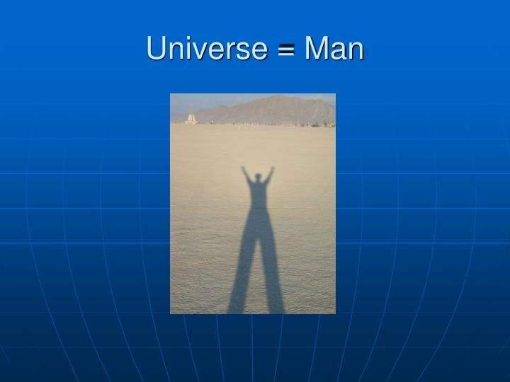 Universe = Man