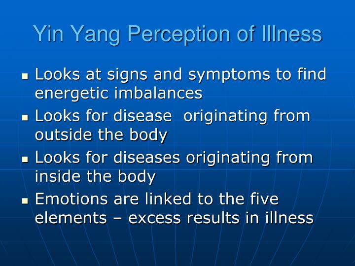 Yin Yang Perception of Illness