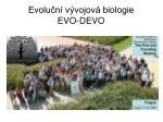 evolu n v vojov biologie evo devo