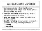 buzz and stealth marketing