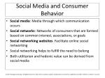 social media and consumer behavior
