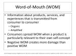 word of mouth wom