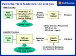petrochemical feedstock oil and gas