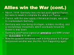 allies win the war cont