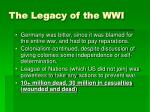 the legacy of the wwi