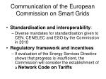 communication of the european commission on smart grids1