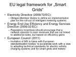 eu legal framework for smart grids