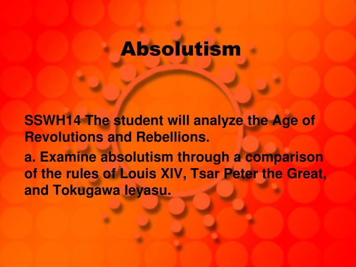 age absolutism essay Moral absolutism, the belief in absolute standards against which moral questions can be judged, regardless of context graded absolutism , the view that a moral absolute, such as do not kill, can be greater or lesser than another moral absolute, such as do not lie.