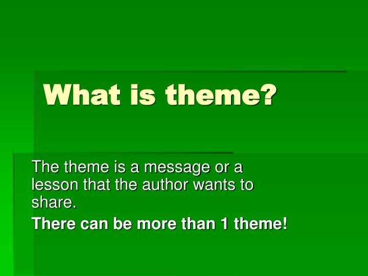 what is theme n.