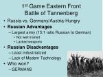 1 st game eastern front battle of tannenberg