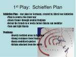 1 st play schieffen plan