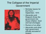 the collapse of the imperial government