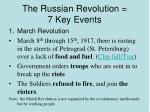 the russian revolution 7 key events