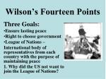 wilson s fourteen points