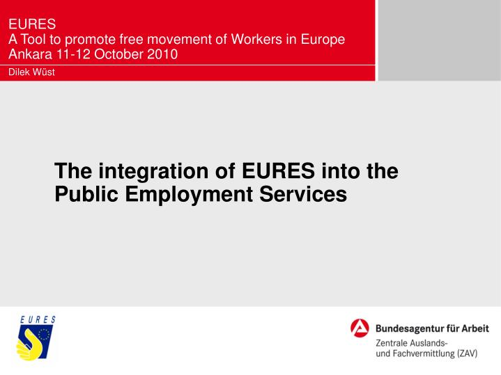 the integration of eures into the public employment services n.