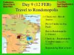 day 9 12 feb travel to rondonopolis