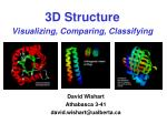 3d structure visualizing comparing classifying