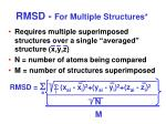 rmsd for multiple structures