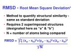 rmsd root mean square deviation