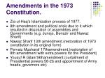 amendments in the 1973 constitution