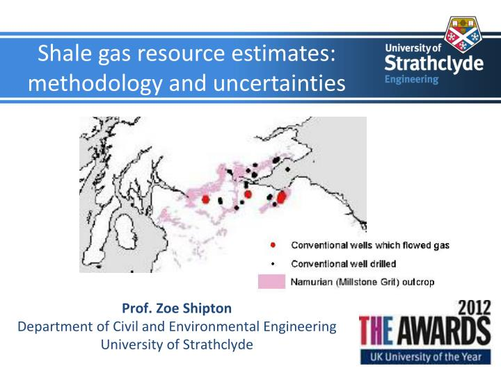 shale gas resource estimates methodology and uncertainties n.