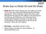shale gas vs shale oil and oil shale