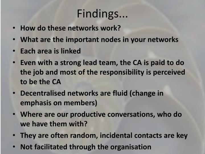 Findings...
