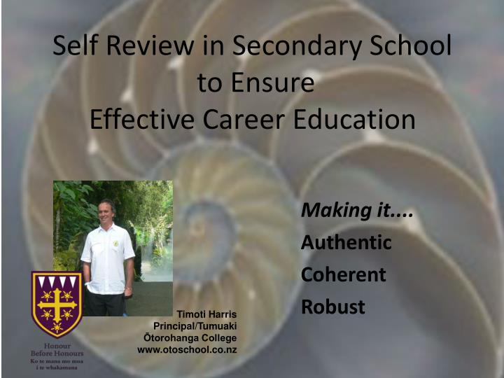 Self Review in Secondary School