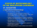 status of biotechnology in the anglophone caribbean