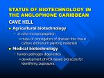 status of biotechnology in the anglophone caribbean5