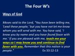 the four w s1