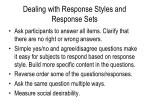 dealing with response styles and response sets