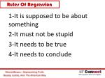 rules of regression