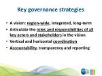 key governance strategies