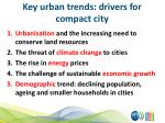 key urban trends drivers for compact city