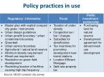policy practices in use