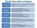the five key policy strategies