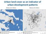 urban land cover as an indicator of urban development patterns