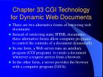 chapter 33 cgi technology for dynamic web documents